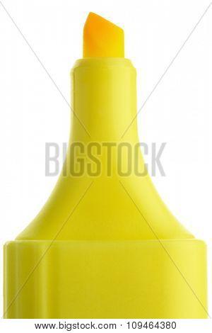 top of a yellow felt tip marker