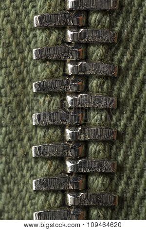 detail of a zipper