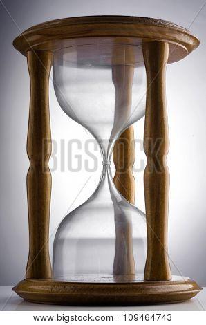 an empty hourglass