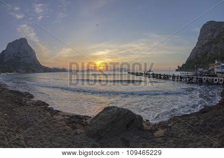 Dawn In A Small Bay.