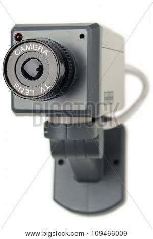 security camera isolated on white with clipping path