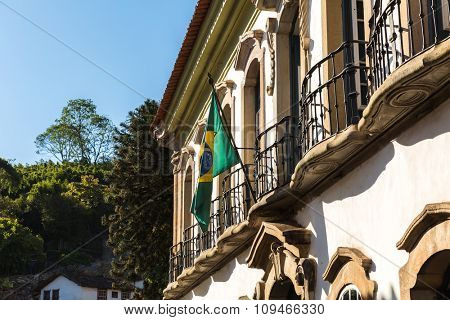 The antique city of Ouro Preto in Minas Gerais, Brazil