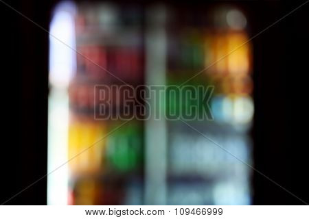 Colorful blurred image at night