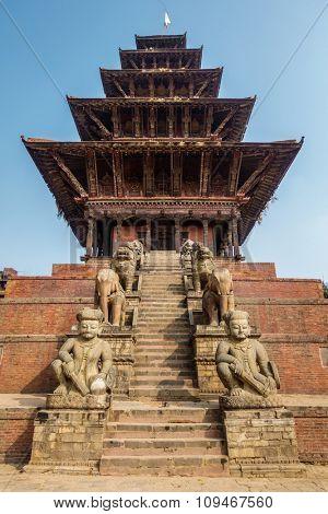 Nyatapola temple in Bhaktapur, Nepal