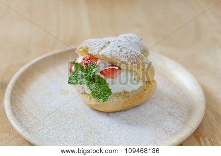 Strawberry Choux Cream