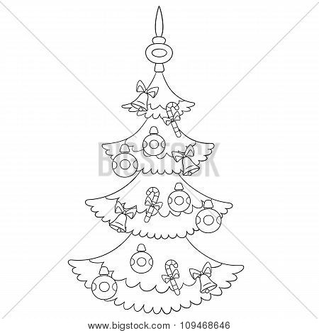 Beautiful Cartoon Christmas Tree