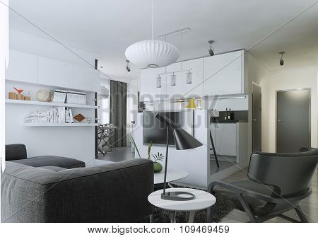 Apartment Studio Modern Style