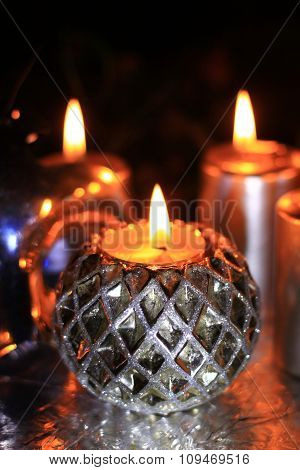 Festive Christmas candles