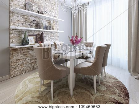 Dining Room In Neoclassical Style