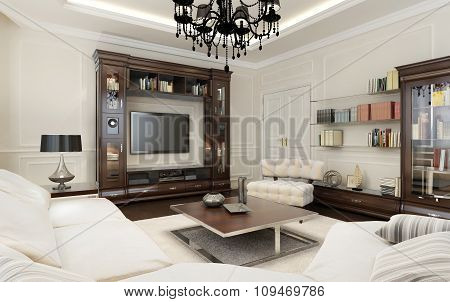 Living Room In Art Deco Style
