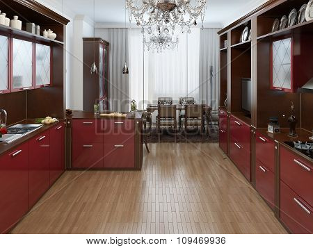 Kitchen In The Art Deco Style