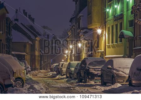 Night Winter Street Scene