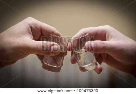 drinking alcohol, isolated