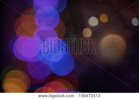 Blur Color Bokeh Light Night Background Card