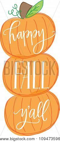 Happy Fall Y'all Pumpkins