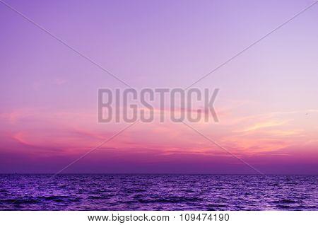 Sunset on the summer beach