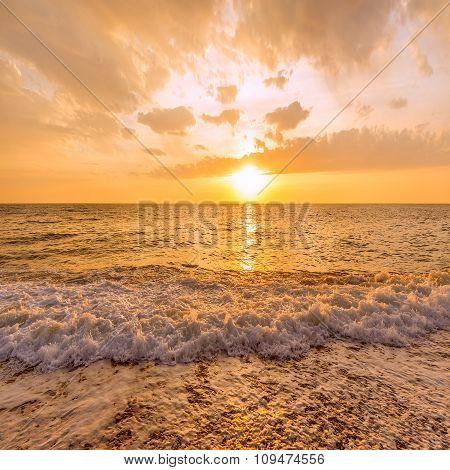 Sunset Sky Over The Sea.