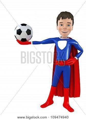 Little superhero posing
