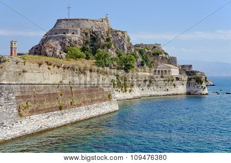 Venetian fortress Palaio Frourio in city of Corfu