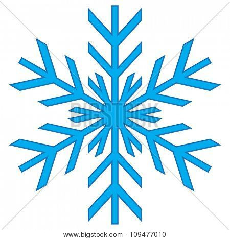 Vector illustration of a snowflake for winter design