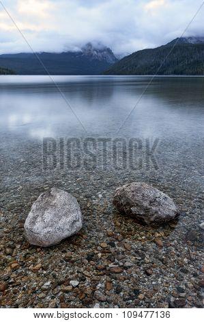 Two Boulders In Redfish Lake.