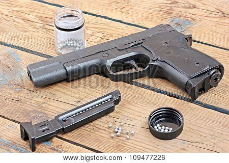 Black Pneumatic  Gun