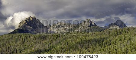 Panorama Of Braxon Peak.