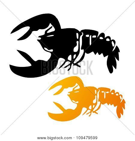 Vector Lobster Silhouette