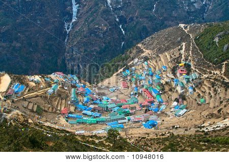 Sherpa village of Namche Bazar