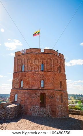 Castle Tower In Vilnius, Capital Of Lithuania