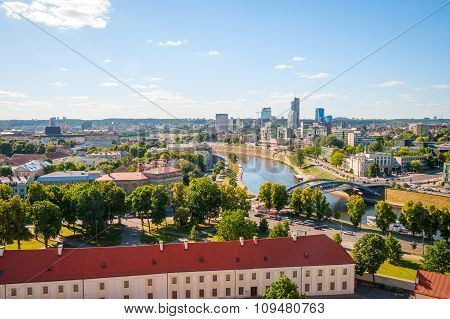 View To Modern Part Of Vilnius, Lithuania