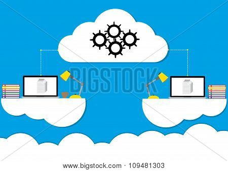 Cloud Computing Concept Design Working Anywhere Anytime A Modern Business Information Technology Inf