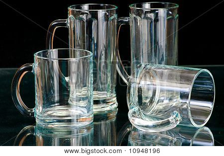 Empty Glass Isolated On A Black  Background