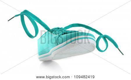 Turquoise gumshoe isolated on white