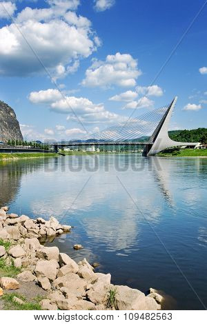 Marian Bridge Over Elbe River, Usti Nad Labem,   Czech Republic.
