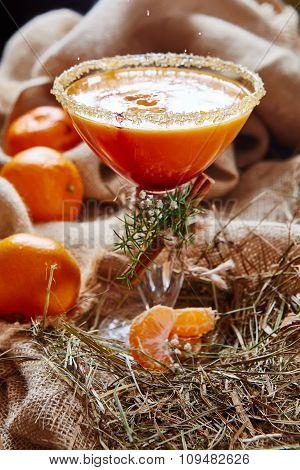 Fresh juice of ripe mandarins