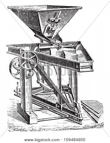 Purifier perfected by Mr. Josse Hignette, vintage engraved illustration. Industrial encyclopedia E.-O. Lami - 1875.