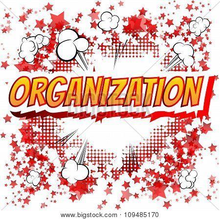 Organization - Comic book style word
