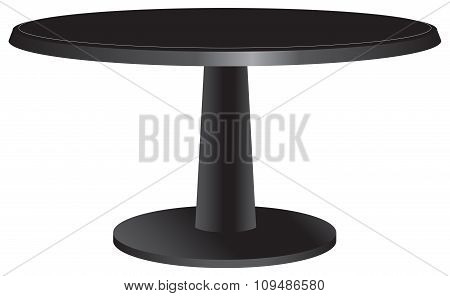 Black Design Table With A Round Top