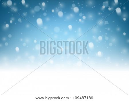 Blue luminous background. Vector paper illustration.