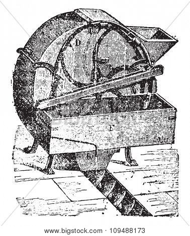 Automatic dampener, vintage engraved illustration. Industrial encyclopedia E.-O. Lami - 1875.