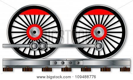 Pair Of Train Wheels
