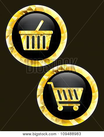 Trolley and basket  icon.
