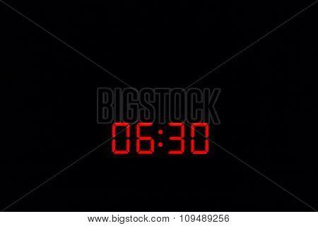 Digital Watch 06:30