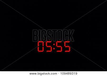 Digital Watch 05:55