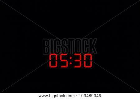 Digital Watch 05:30