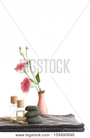 Beautiful spa composition, isolated on white