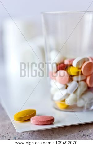 Different Pills In  A Cup - Health Care System