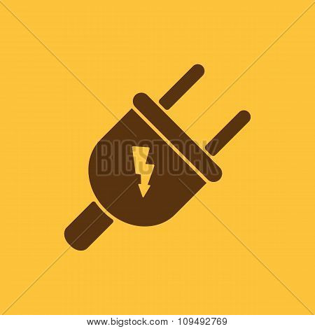 The electric plug icon. Electric Plug symbol. Flat