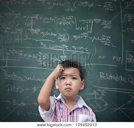 Smart Asian Boy Thinking